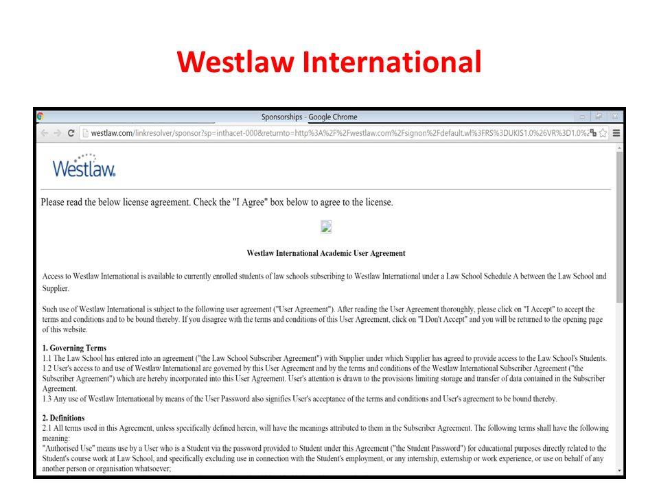 Westlaw International
