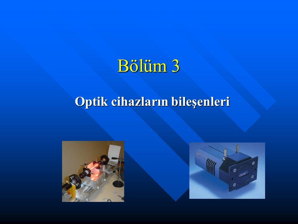 Bölüm 3 Optik cihazların bileşenleri