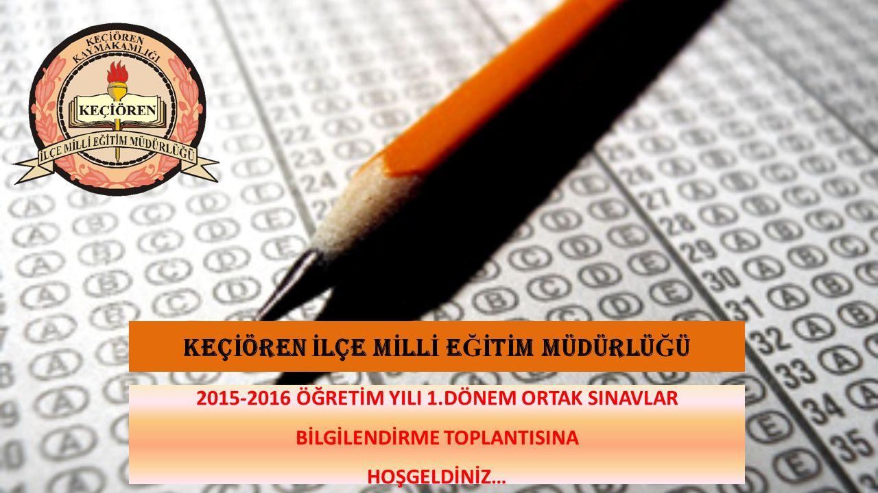 ORTAK SINAVLAR UYGULAMA TAKVİMİ SınıfDönemSınav Tarihleri Mazeret Sınavı Tarihleri Sınav Sonuçlarının İlanı 8'inci sınıf1.