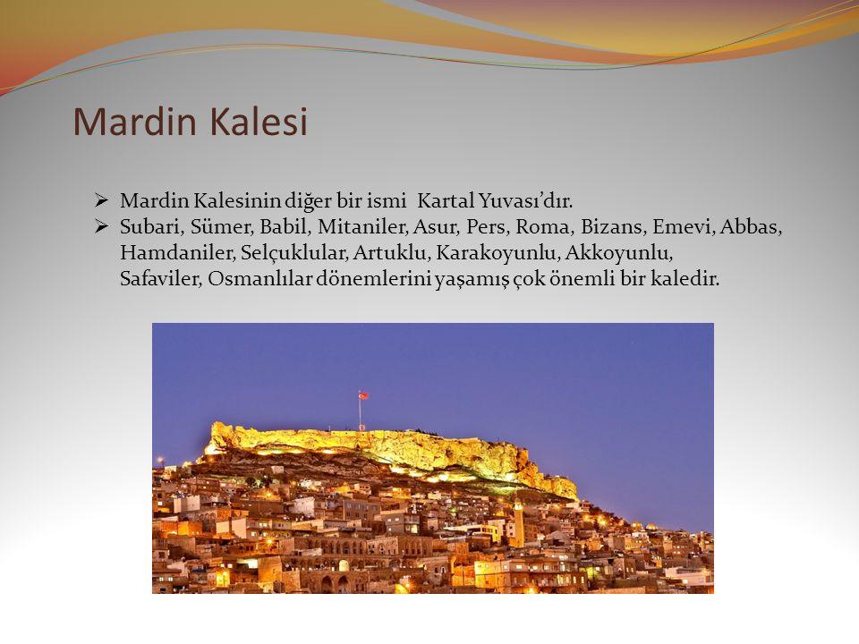 Mardin Kalesi  Mardin Kalesinin diğer bir ismi Kartal Yuvası'dır.