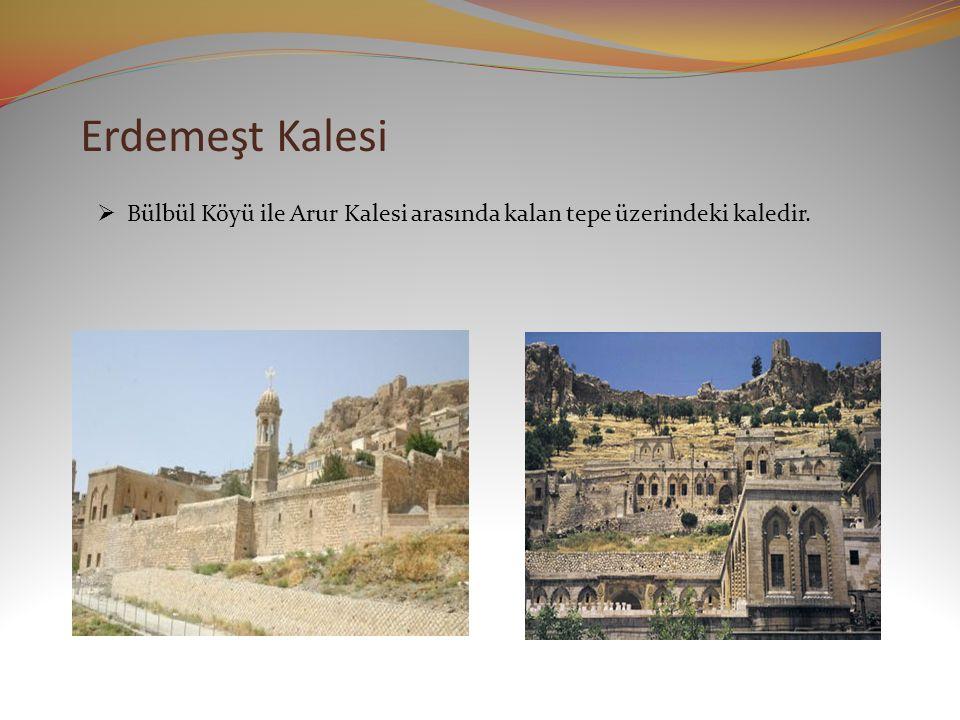 Erdemeşt Kalesi  Bülbül Köyü ile Arur Kalesi arasında kalan tepe üzerindeki kaledir.