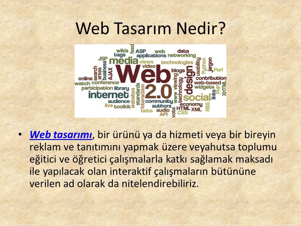 Web Tasarım Nedir.