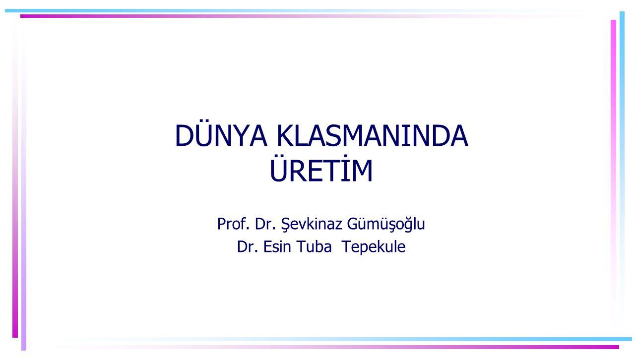 DÜNYA KLASMANINDA ÜRETİM Prof. Dr. Şevkinaz Gümüşoğlu Dr. Esin Tuba Tepekule