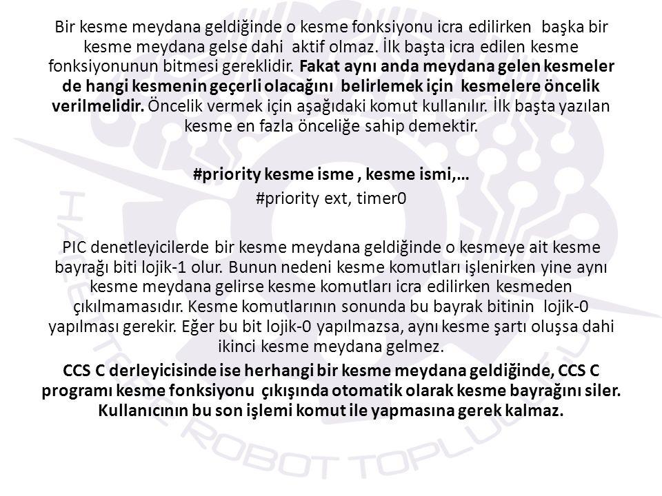 DIŞ KESME (EXTERNAL INTERRUPT) UYGULAMASI