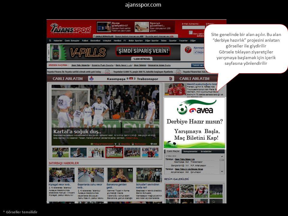 ajansspor.com * Görseller temsilidir Anasayfada gözükecek olan Videolar alanı da Turkcell görselleri ile giydirilir.