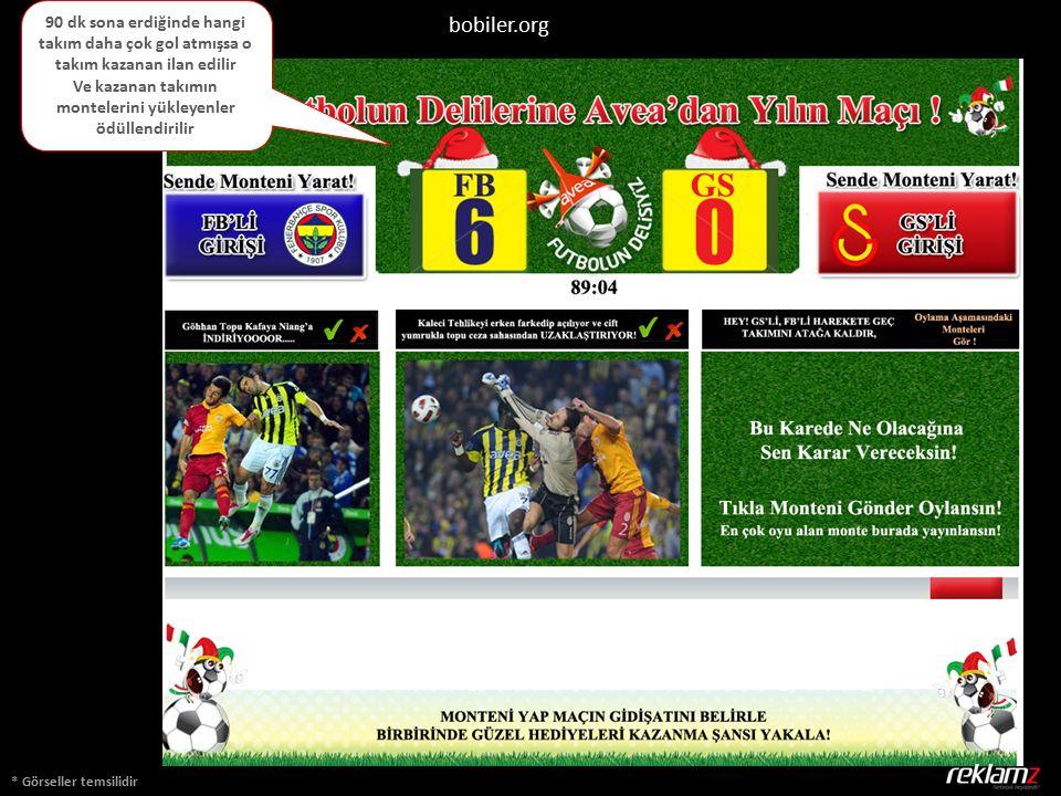 * Görseller temsilidir bobiler.org 90 dk sona erdiğinde hangi takım daha çok gol atmışsa o takım kazanan ilan edilir Ve kazanan takımın montelerini yükleyenler ödüllendirilir