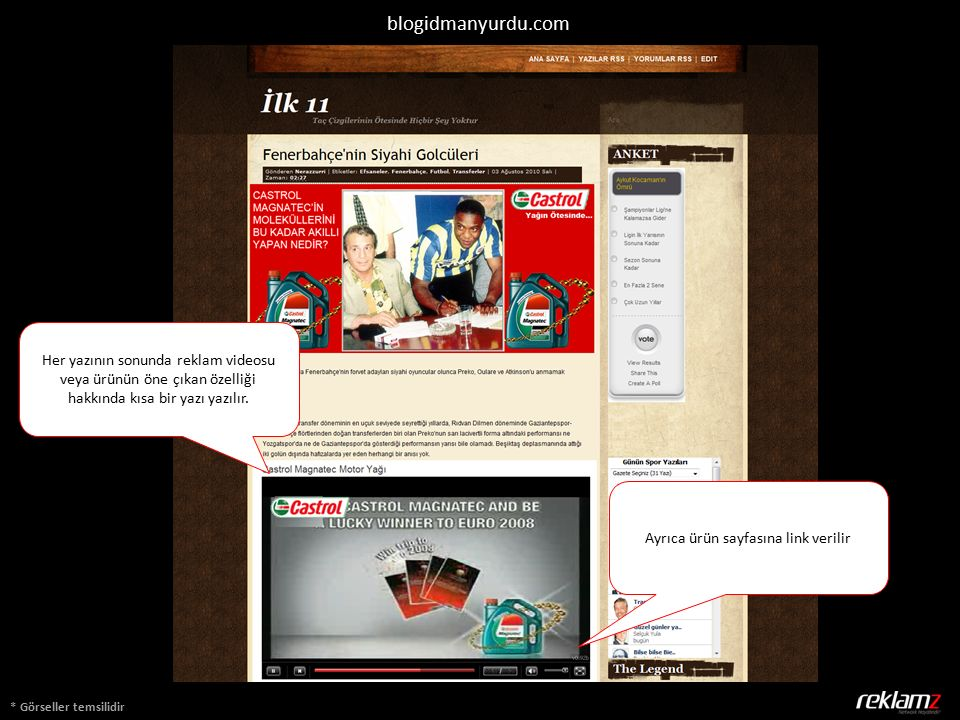 * Görseller temsilidir blogidmanyurdu.com Her yazının sonunda reklam videosu veya ürünün öne çıkan özelliği hakkında kısa bir yazı yazılır. Ayrıca ürü