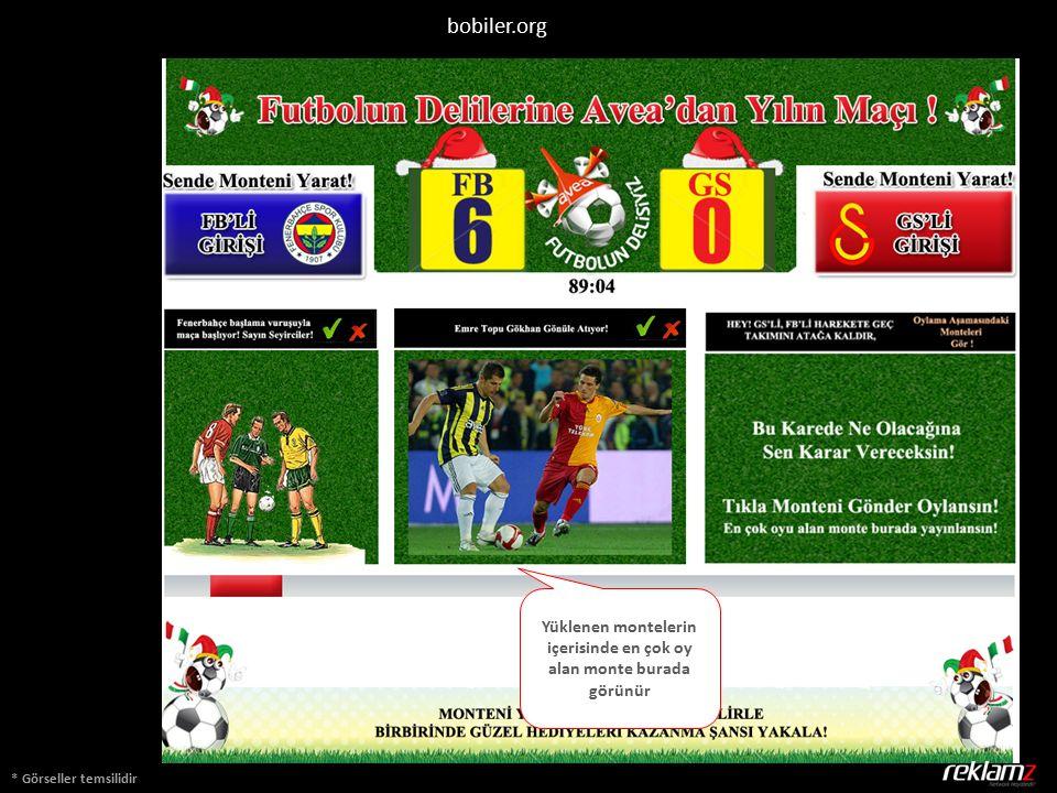 * Görseller temsilidir bobiler.org Yüklenen montelerin içerisinde en çok oy alan monte burada görünür