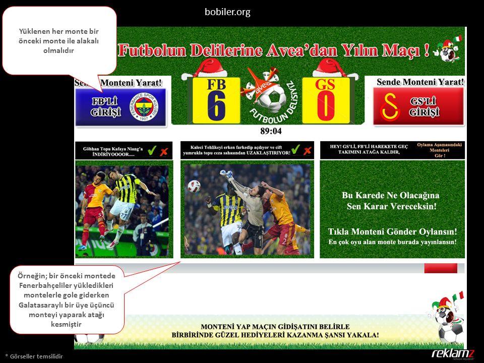 * Görseller temsilidir bobiler.org Yüklenen her monte bir önceki monte ile alakalı olmalıdır Örneğin; bir önceki montede Fenerbahçeliler yükledikleri