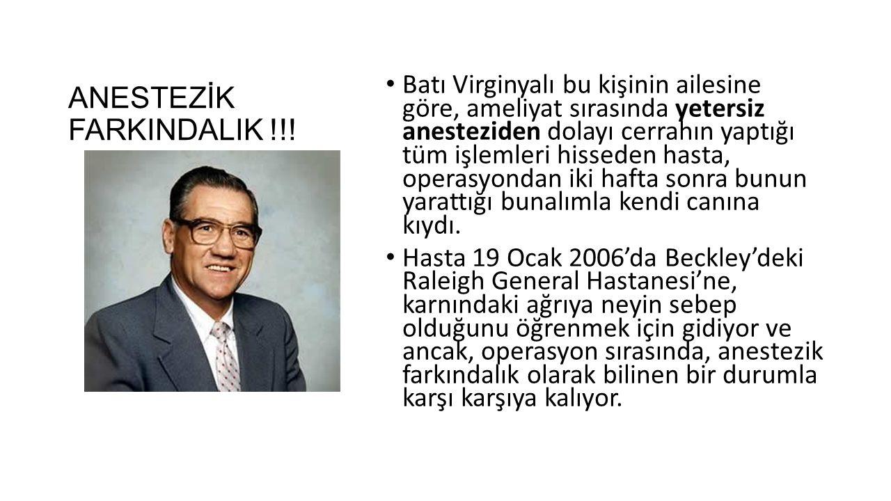 ANESTEZİK FARKINDALIK !!.