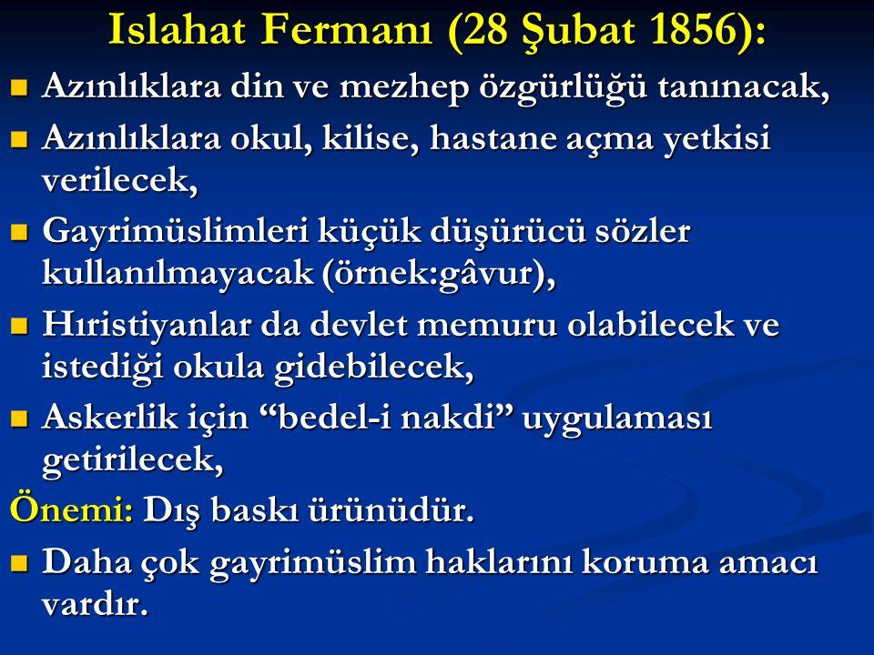 I.Meşrutiyet'in ÖNEMİ:  Parlamenter yönetime geçildi.