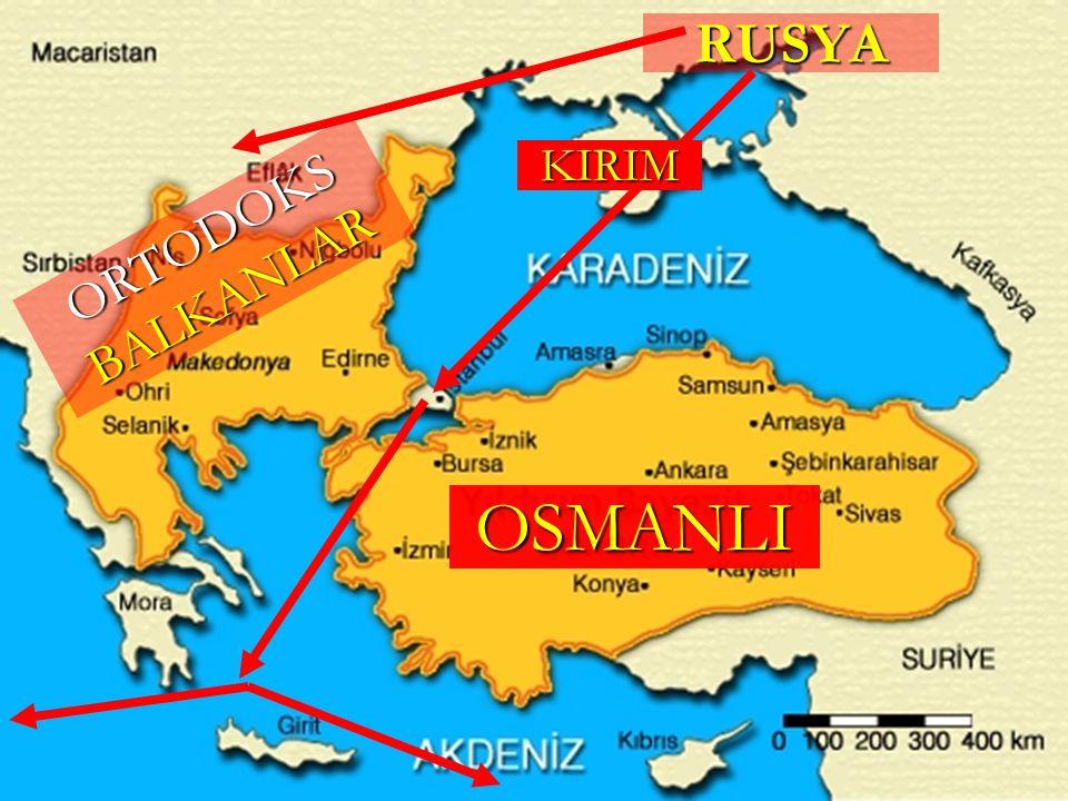 RUSYA OSMANLI ORTODOKS BALKANLAR KIRIM