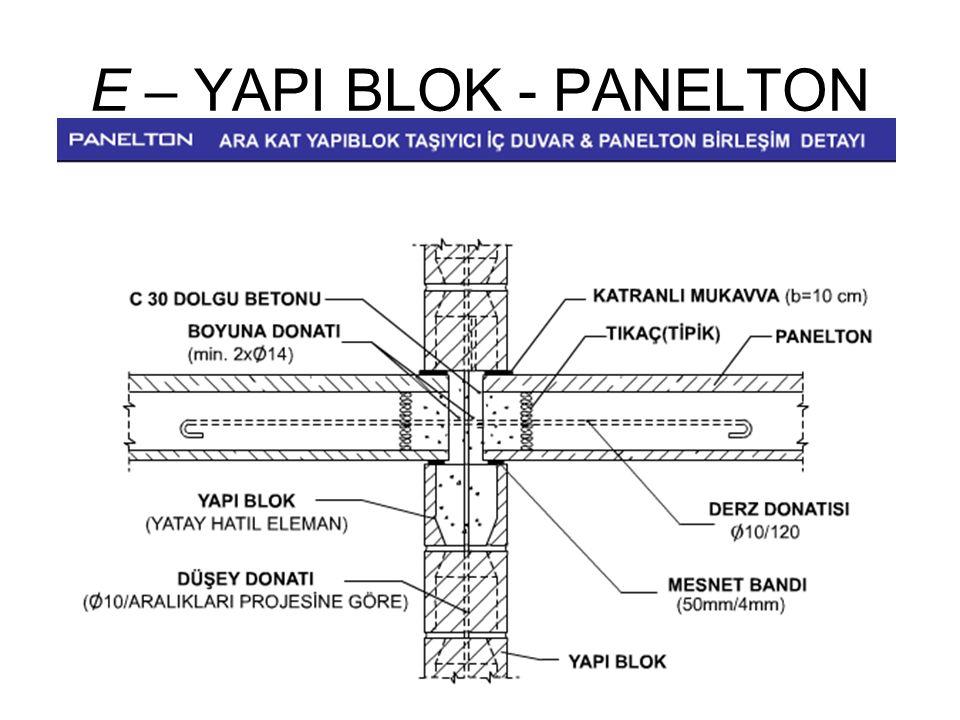E – YAPI BLOK - PANELTON