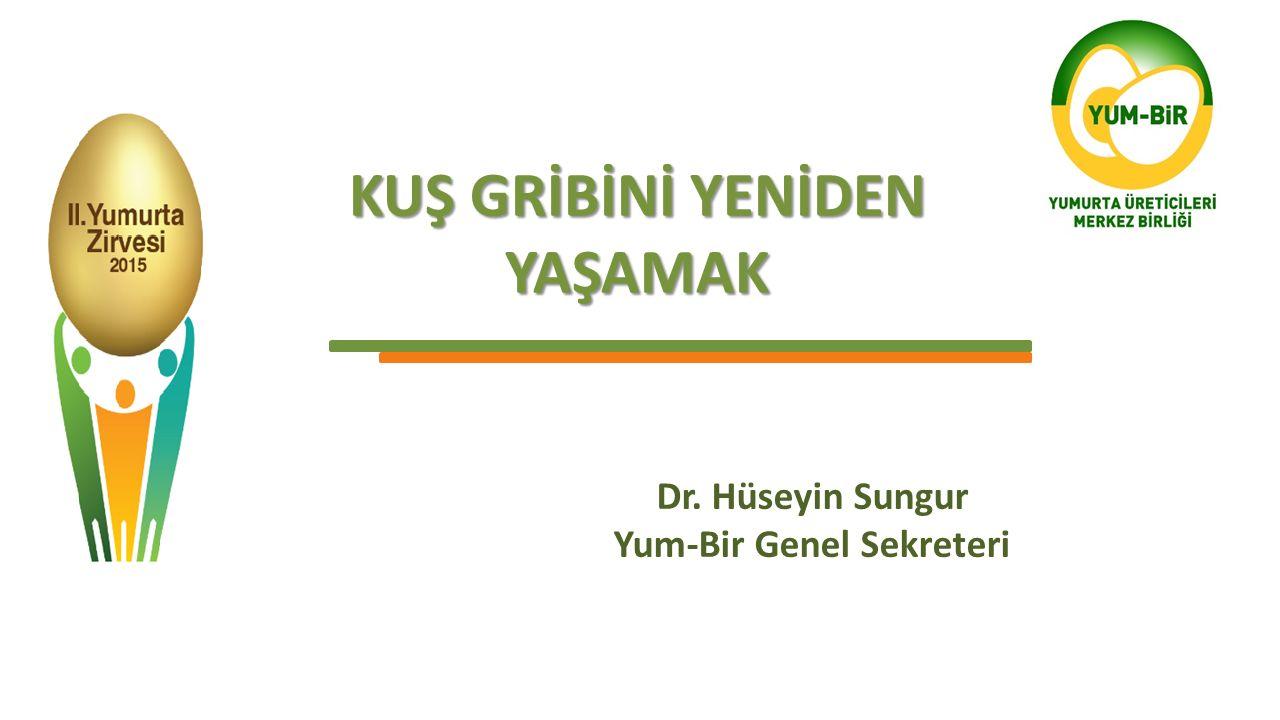KUŞ GRİBİNİ YENİDEN YAŞAMAK Dr. Hüseyin Sungur Yum-Bir Genel Sekreteri
