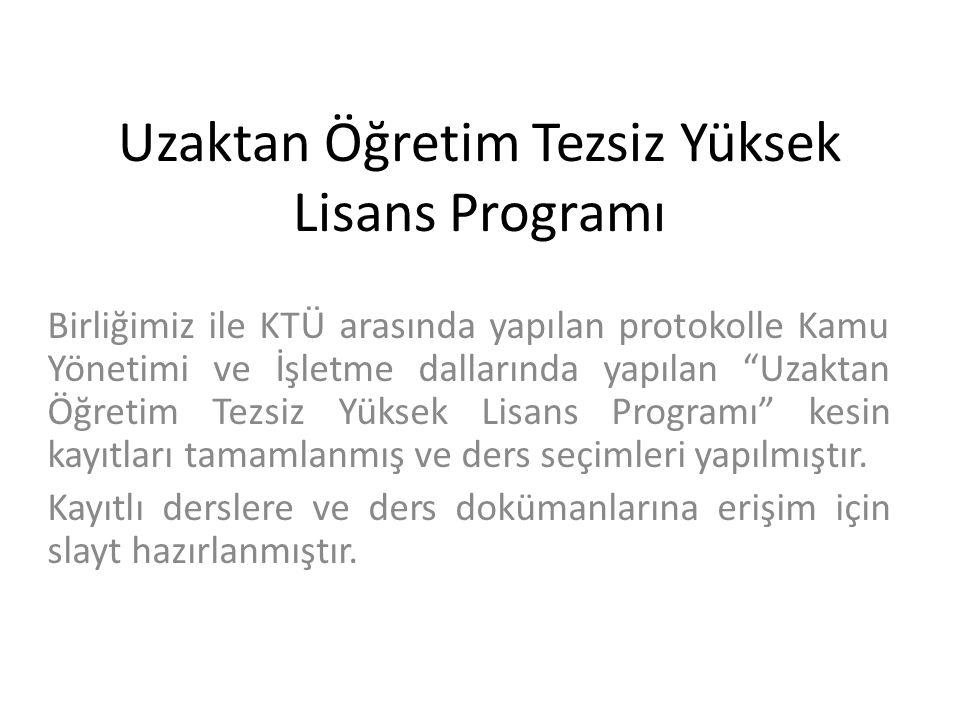 KTÜ UZEM sayfasına giriş sayfası