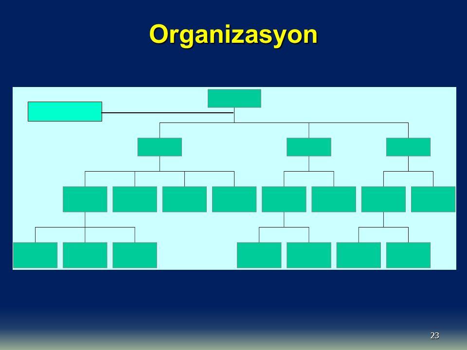 23 Organizasyon