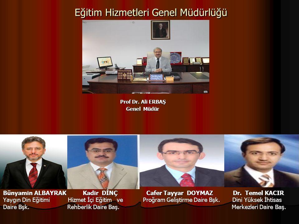 Eğitim Hizmetleri Genel Müdürlüğü Eğitim Hizmetleri Genel Müdürlüğü Prof Dr.
