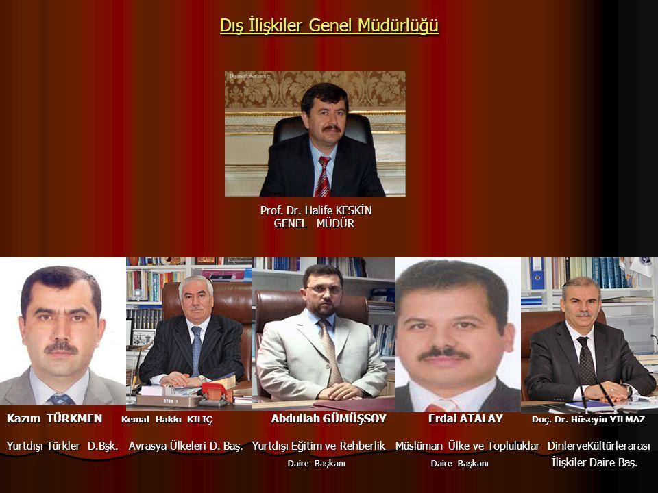 Dış İlişkiler Genel Müdürlüğü Dış İlişkiler Genel Müdürlüğü Prof.