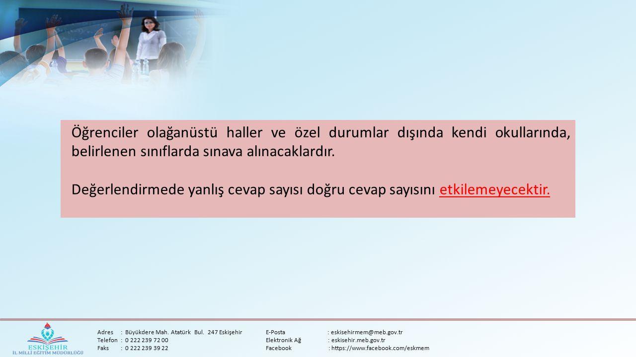 Adres:Büyükdere Mah. Atatürk Bul.