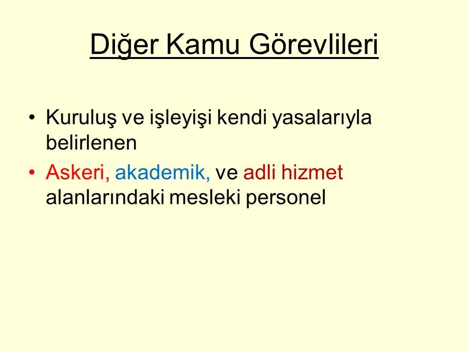 İstisnai memurluklar Madde 59– Cumhurbaşkanlığı Genel Sekreterliği ile Türkiye Büyük Millet Meclisinin memurluklarına, Bakan Yardımcılıklarına,(14) Başbakan Başmüşaviri(2), (..)(3) Savunma Sanayii Müsteşarlığına ait Müsteşar, Müsteşar Yardımcısı, I.Hukuk Müşaviri, Daire Başkanı ve Müşavir Avukat kadrolarına, (15) Toplu Konut (...) (4) İdaresi Başkanlığına ait Başkan, Başkan Yardımcısı, Hukuk Müşaviri, Daire Başkanı, Uzman, Uzman Yardımcısı, Müşavir Avukat ve Şube Müdürleri (Uzman)(4), Başbakan Müşavirliklerine, Özelleştirme İdaresi Başkanlığında Başkan, Başkan Yardımcısı, Başkanlık Müşaviri, Daire Başkanı, Proje Grup Başkanı ve Basın ve Halkla İlişkiler Müşavirliğine(5) Başbakanlık ve Bakanlık Müşavirlikleriyle Basın ve Halkla İlişkiler Müşavirliklerine, Başbakanlık Basın Müşavirliğine, Türkiye İstatistik Kurumu Basın ve Halkla İlişkiler Müşavirliğine, (…)(14) Avrupa Birliği Bakanlığı Başkanlıklarına (İdari Hizmetler Başkanlığı hariç), (9)(14) Yurtdışı Türkler ve Akraba Topluluklar Başkanlığı Başkan Yardımcısı, Başkanlık Müşaviri, Basın Müşaviri ve Hukuk Müşaviri, (10) Gelir İdaresi Başkanlığında Basın ve Halkla İlişkiler Müşavirliğine, Bakanlar Kurulu Sekreterliğine, Milli Savunma Bakanlığı ile Türk Silahlı Kuvvetleri kadrolarında veya kadro açıklamalar bölümünde özel nitelikli olarak gösterilen görev yerlerine, Özel Kalem Müdürlüklerine, Valiliklere, Büyükelçiliklere, Elçiliklere, Daimi Temsilciliklere, Dışişleri Bakanlığı Stratejik Araştırmalar Merkezi Başkanlığına, (12) dış kuruluşlarda çalışma müşavirlikleri nezdinde görevlendirilecek sendika uzmanlıklarına, Din İşleri Yüksek Kurulu Üyeliklerine, Diyanet İşleri Başkanlığı Başkanlık Müşaviri (4 adet), Diyanet İşleri Başkanlığı Basın ve Halkla İlişkiler Müşaviri, (11)Milli İstihbarat Teşkilatı memurluklarına, Milli Güvenlik Kurulu Genel Sekreterliği Müşavirliklerine, Hukuk Müşavirliğine ve Genel Sekreter Sekreterliğine, Ölçme, Seçme ve Yerleştirme Merkezi Başkanlığında Basın ve Halkla İlişkiler Müşavirliği ve Baş