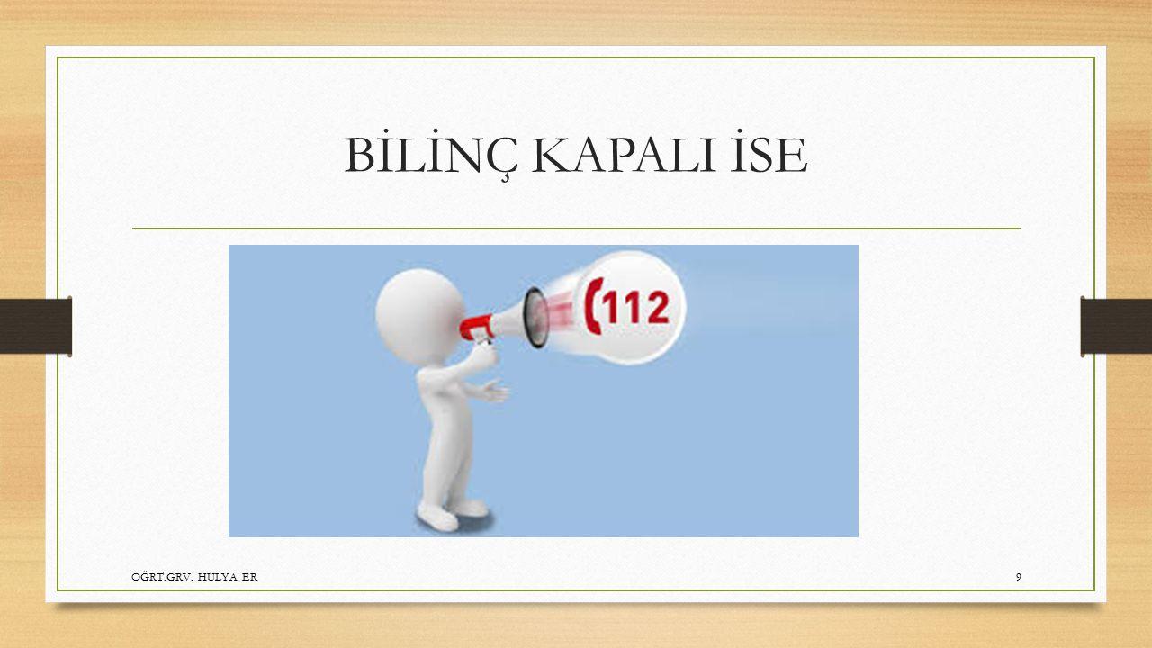 BEBEKLERDE TYD/BİLİNÇ KAPALI İSE 112 ARAT !!! ÖĞRT.GRV. HÜLYA ER20