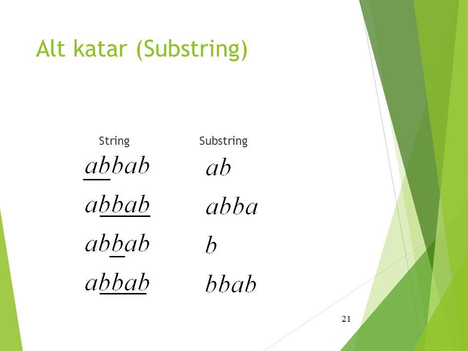 Alt katar (Substring) String Substring 21