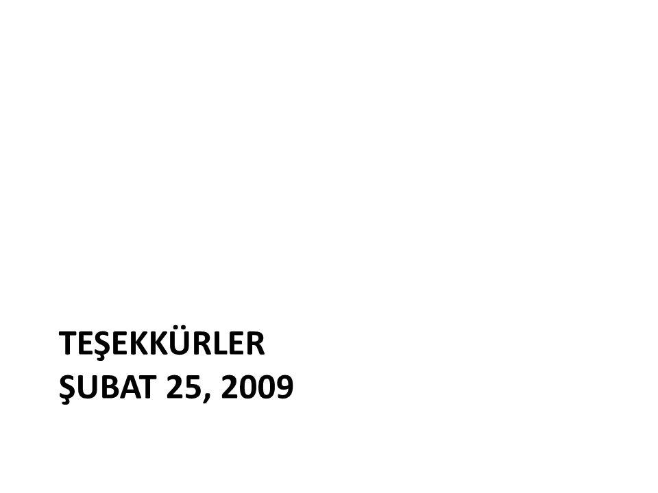 TEŞEKKÜRLER ŞUBAT 25, 2009