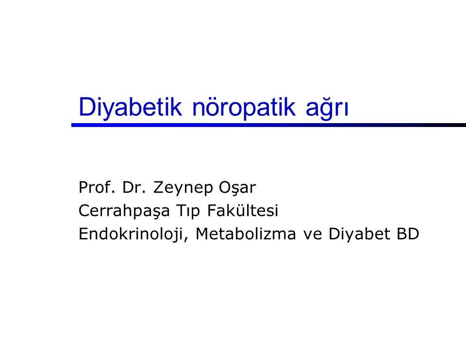 Diyabetik nöropatik ağrı Prof. Dr. Zeynep Oşar Cerrahpaşa Tıp Fakültesi Endokrinoloji, Metabolizma ve Diyabet BD