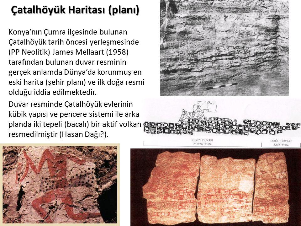 Çatalhöyük Haritası (planı) Konya'nın Çumra ilçesinde bulunan Çatalhöyük tarih öncesi yerleşmesinde (PP Neolitik) James Mellaart (1958) tarafından bul