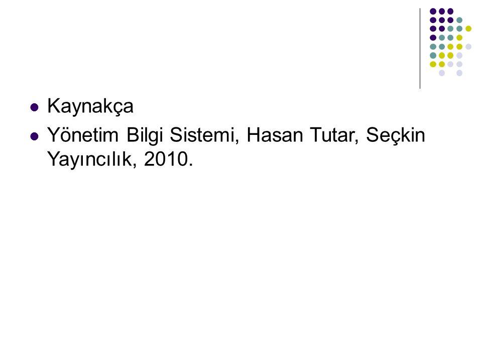 Kaynakça Yönetim Bilgi Sistemi, Hasan Tutar, Seçkin Yayıncılık, 2010.