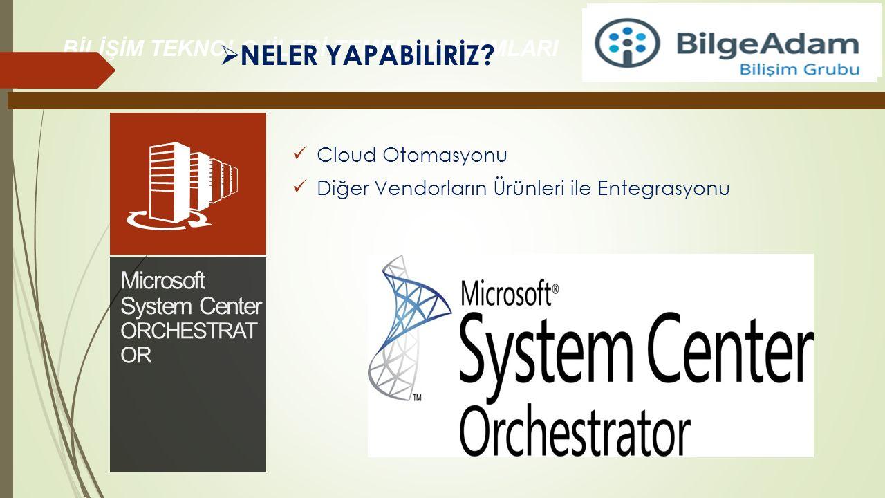 Cloud Otomasyonu Diğer Vendorların Ürünleri ile Entegrasyonu  NELER YAPABİLİRİZ?