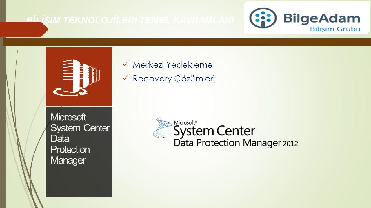 BİLİŞİM TEKNOLOJİLERİ TEMEL KAVRAMLARI Merkezi Yedekleme Recovery Çözümleri