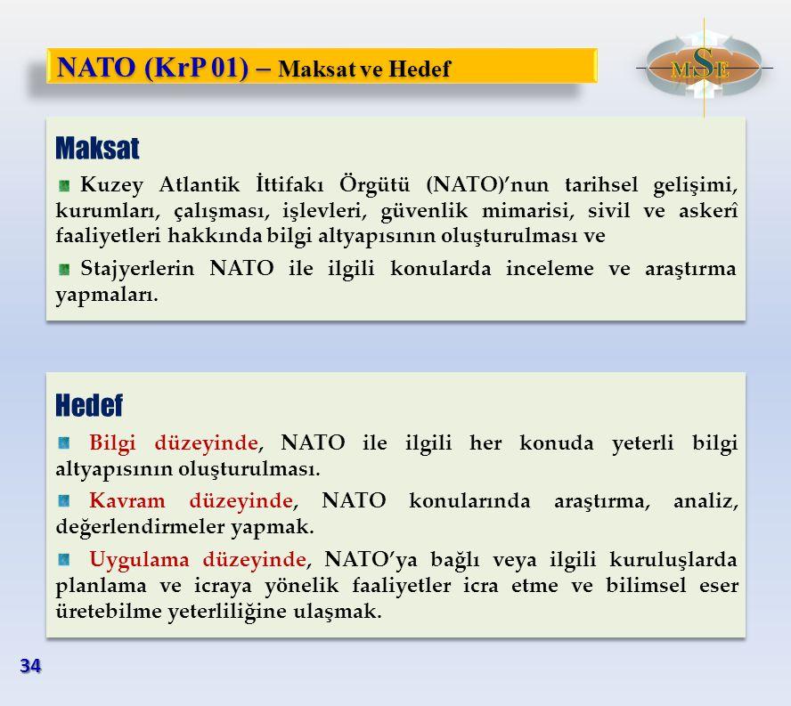 Maksat Kuzey Atlantik İttifakı Örgütü (NATO)'nun tarihsel gelişimi, kurumları, çalışması, işlevleri, güvenlik mimarisi, sivil ve askerî faaliyetleri h