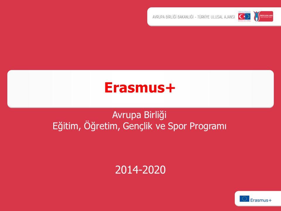 2014-2020 Erasmus+ Avrupa Birliği Eğitim, Öğretim, Gençlik ve Spor Programı