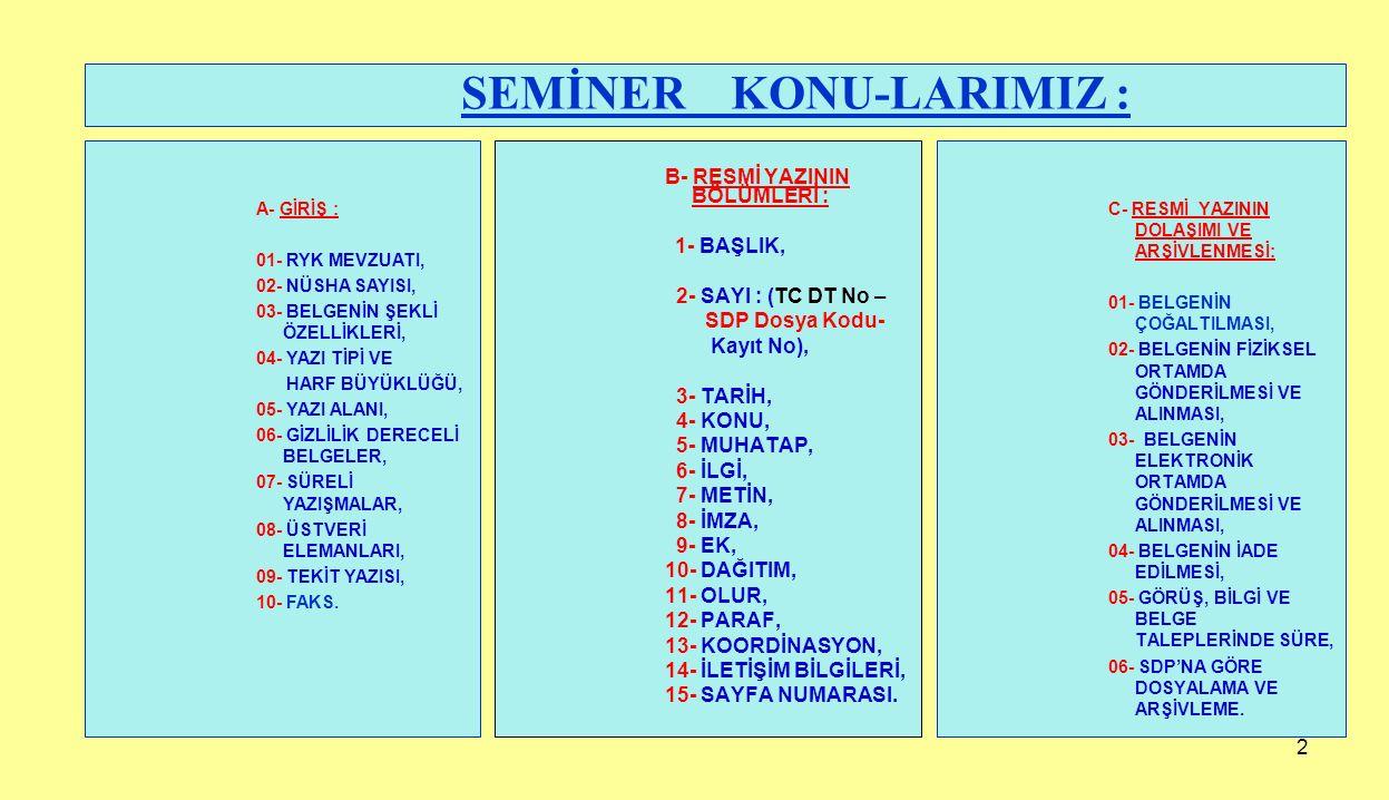 73 31/03/2015 Memur : İsmail ÖZDEMİR (Paraf) 31/03/2015 Şef : Mehmet AVŞAR (Paraf) 31/03/2015 Müdür : Halil KARAMAN (Paraf) 31/03/2015 Başkan Yardımcısı : Aydın POLAT(Paraf) Koordinasyon: 31/03/2015 Müfettiş : Kerem GÜNER (Paraf) 31/03/2015 Hukuk İşleri Md.