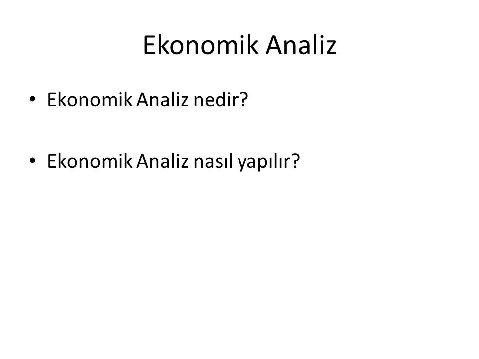 Ekonomik Analiz Ekonomik Analiz nedir? Ekonomik Analiz nasıl yapılır?