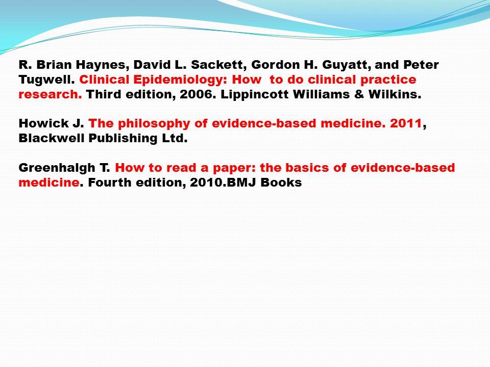 4- Sistematik derlemeler -Metaanalizler (Syntheses) (Cochrane Library) 5- Kanıt sağlayıcı özgün karşılaştırmalı çalışmaların özet değerlendirmeleri (Synopses of Studies) :Kanıta dayalı tıp dergilerinde değerlendirme özetleri 6- Kanıt sağlayıcı özgün karşılaştırmalı çalışmaların kendileri (Studies): Pubmed, web of science, discovery, science direct, Google scholar, google, EBSCO, Tubitak