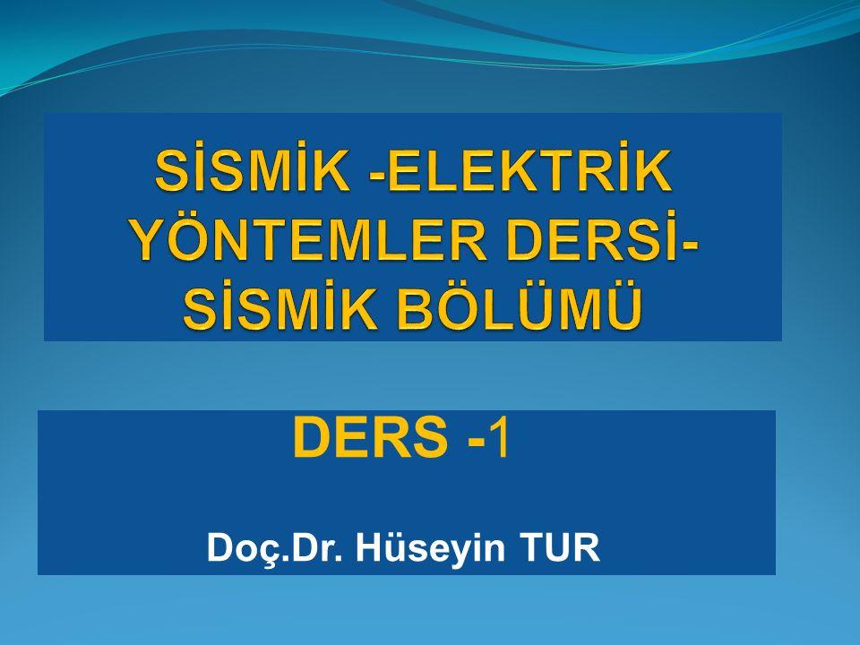 DERS -1 Doç.Dr. Hüseyin TUR