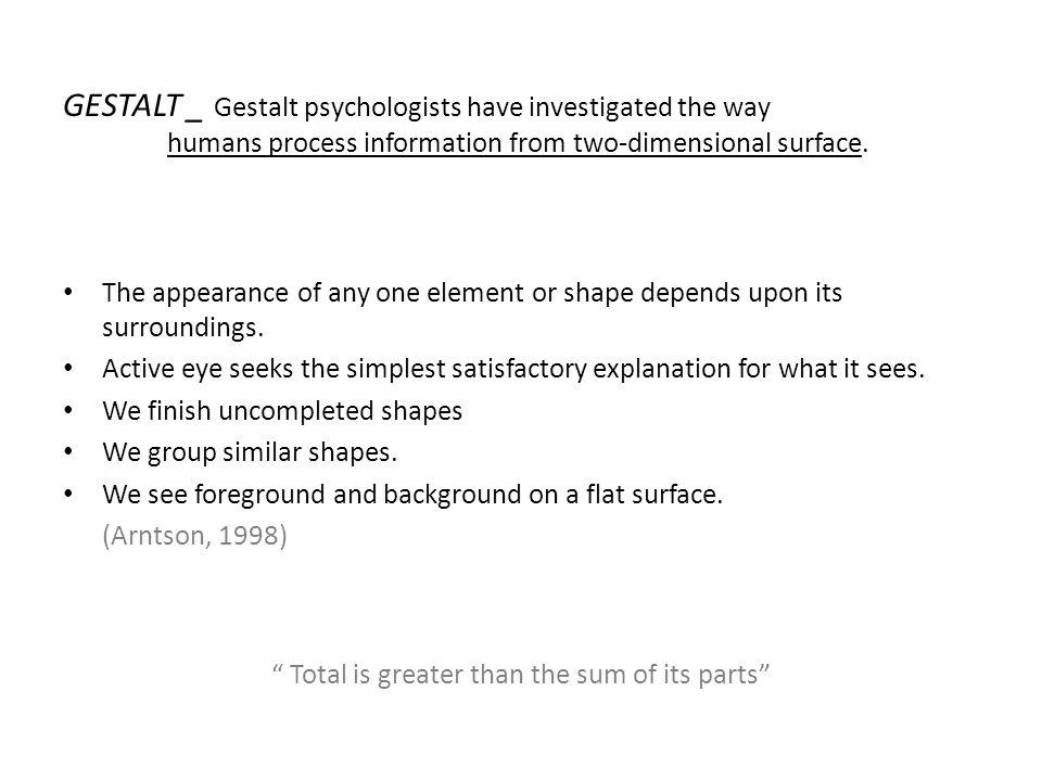 1.Ş̧ekil-Zemin İlişkisi 2.Yakınlık İlkesi 3.Benzerlik İlkesi 4.Tamamlama İlkesi 5.Süreklilik İlkesi 6.Basitlik Yasası 7.Pragnaz Yasası