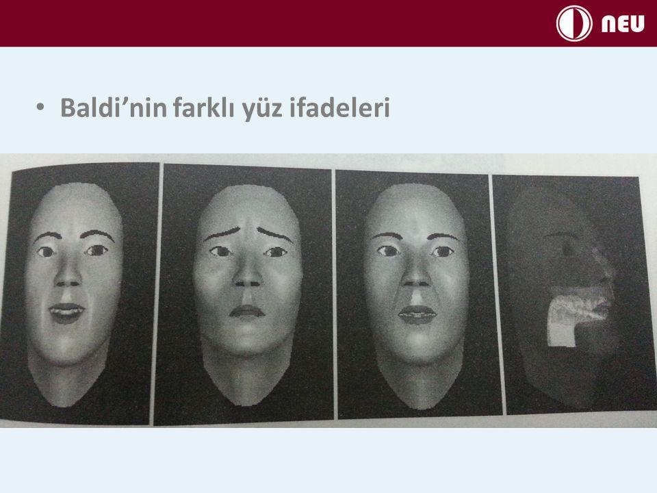 Baldi'nin farklı yüz ifadeleri