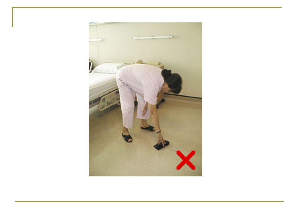 GİYİNİRKEN Pantolon, çorap ve ayakkabı giymek için öne doğru eğilmeyin, yardım isteyin.