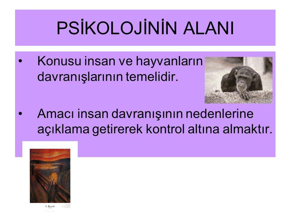 PSİKOLOJİNİN YÖNTEMLERİ 1.