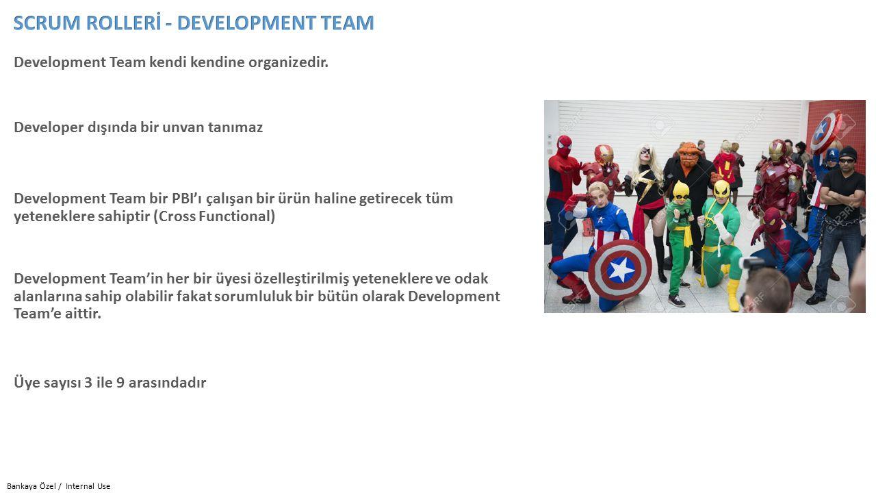 Development Team kendi kendine organizedir.