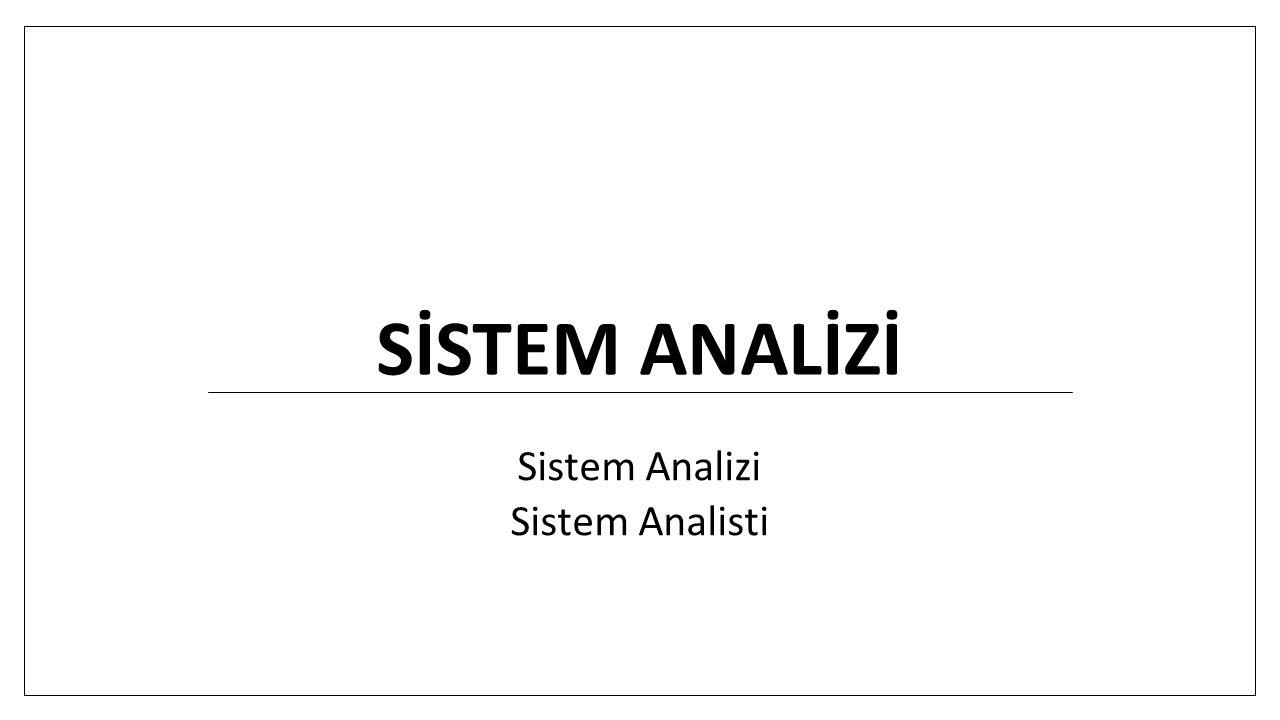 Sistem analisti: Yönetim ve çevreyle uyum Genellikle bir projenin tamamından sorumlu olduğundan - Yönetim teorisi, takım çalışması, motivasyon Birçok kişi ile birlikte çalışacağından - Sözlü ve yazılı iletişim becerisinin çok iyi olması - Fikirlerini ve belli kavramları basit ve anlaşılır bir biçimde aktarabilmek