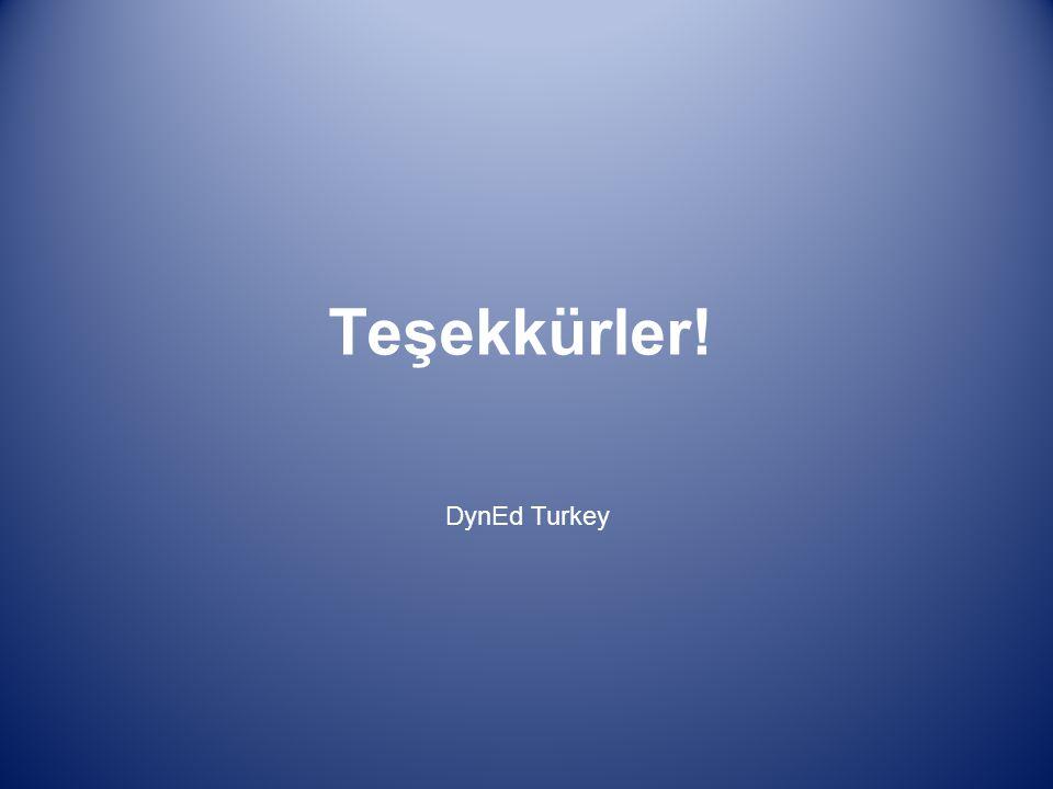 Teşekkürler! DynEd Turkey
