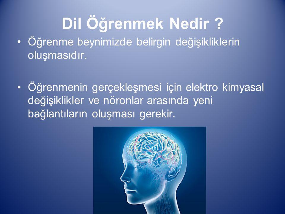 Öğrenme beynimizde belirgin değişikliklerin oluşmasıdır.
