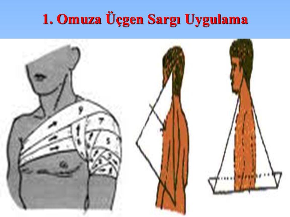 1. Omuza Üçgen Sargı Uygulama
