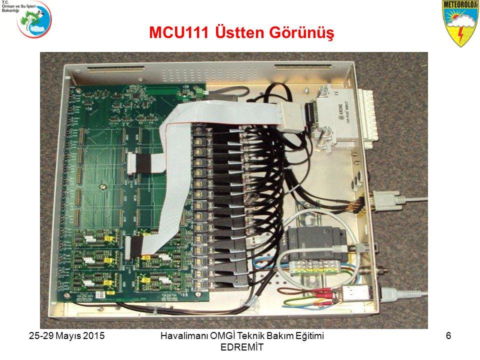 25-29 Mayıs 2015Havalimanı OMGİ Teknik Bakım Eğitimi EDREMİT 6 MCU111 Üstten Görünüş