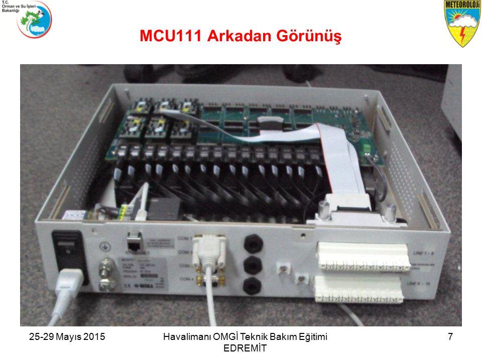 25-29 Mayıs 2015Havalimanı OMGİ Teknik Bakım Eğitimi EDREMİT 7 MCU111 Arkadan Görünüş