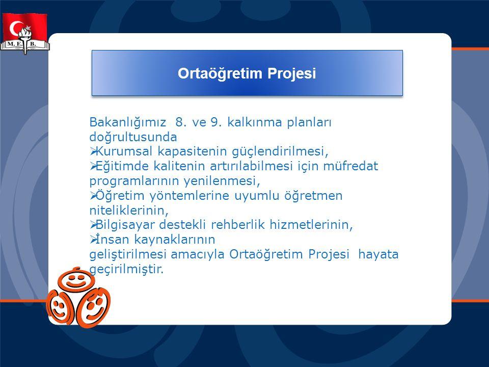 Ortaöğretim Projesi Bakanlığımız 8.ve 9.